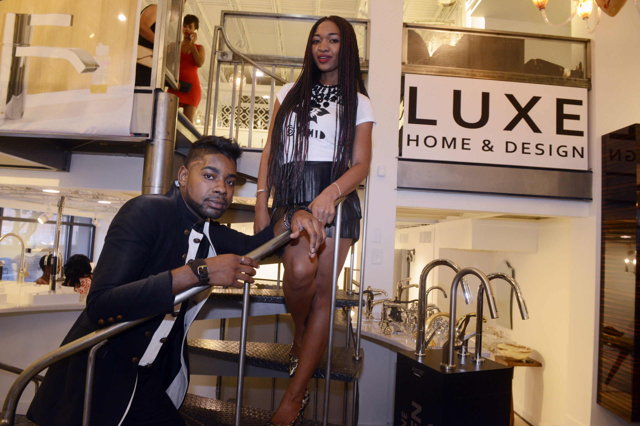 Jaylee Lemon and Wadria Taylor at Style Week Pittsburgh  boutique showcase at LUXE Home and Design in East Liberty. Photographed on August 14, 2015